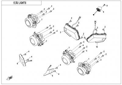 NÁHRADNÉ DIELY CF MOTO X600 - Svetlá