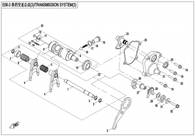 NÁHRADNÉ DIELY CF MOTO X600 - Radenie III