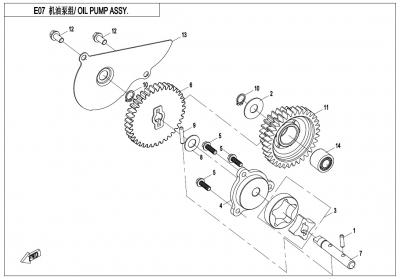 NÁHRADNÉ DIELY CF MOTO X600 - Olejové čerpadlo