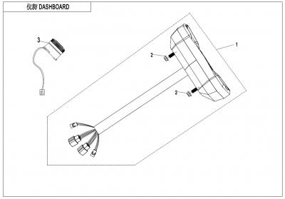 NÁHRADNÉ DIELY CF MOTO X600 - Prístrojová doska