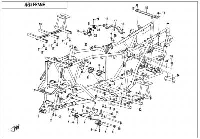 NÁHRADNÉ DIELY CF MOTO X600 - Rám