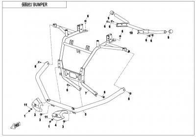 NÁHRADNÉ DIELY CF MOTO X600 - Nárazníky I