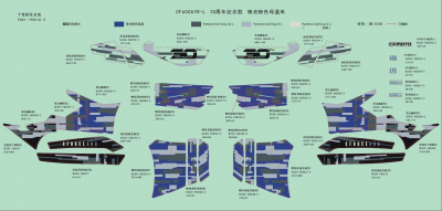 NÁHRADNÉ DIELY CF MOTO X600 - Samolepky (Blue)