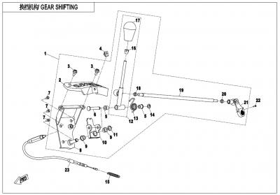NÁHRADNÉ DIELY CF MOTO X600 - Radiaca páka