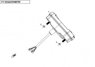 NÁHRADNÉ DIELY CF MOTO X450 - Tachometer