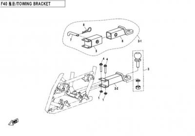 NÁHRADNÉ DIELY CF MOTO X450 - Ťažné zariadenie