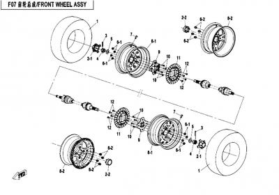 NÁHRADNÉ DIELY CF MOTO X450 - Predné kolesá