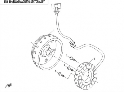NÁHRADNÉ DIELY CF MOTO X450 - Magneto stator