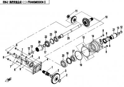 NÁHRADNÉ DIELY CF MOTO X450 - Prevody II