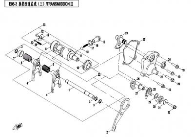 NÁHRADNÉ DIELY CF MOTO X450 - Prevody III