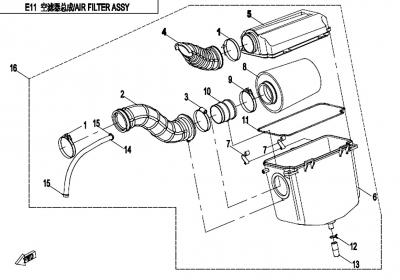 NÁHRADNÉ DIELY CF MOTO X450 - Vzduchový box