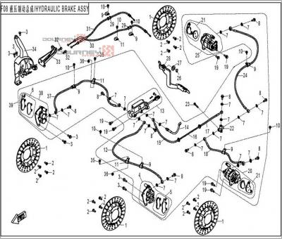 NÁHRADNÉ DIELY CF MOTO UTV 830 EFI - Hydraulické brzdy