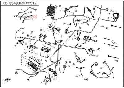 NÁHRADNÉ DIELY CF MOTO UTV 830 EFI - Elektrický systém