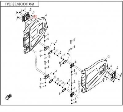NÁHRADNÉ DIELY CF MOTO UTV 830 EFI - Bočné dvere