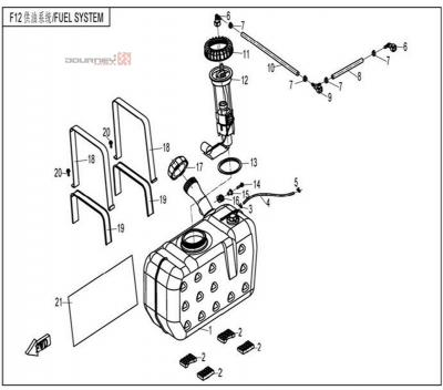 NÁHRADNÉ DIELY CF MOTO UTV 830 EFI - Palivová nádrž