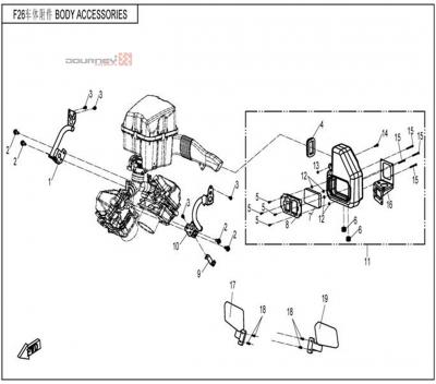 NÁHRADNÉ DIELY CF MOTO UTV 830 EFI - Sacie potrubie