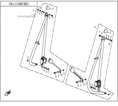 NÁHRADNÉ DIELY CF MOTO UTV 830 EFI - Bezpečnostné pásy