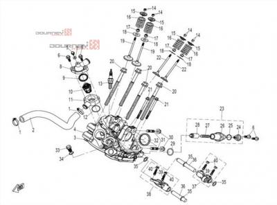 NÁHRADNÉ DIELY CF MOTO UTV 830 EFI - Hlava valca (ventily)