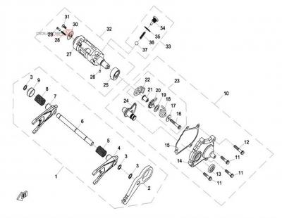 NÁHRADNÉ DIELY CF MOTO UTV 830 EFI - Prevody ozubenia III
