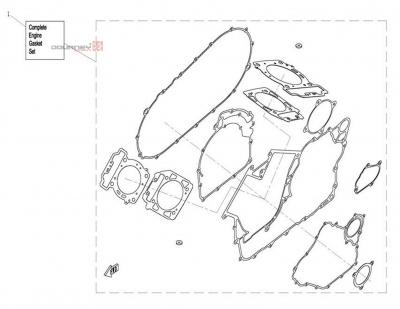 NÁHRADNÉ DIELY CF MOTO UTV 830 EFI - Motorové tesnenie