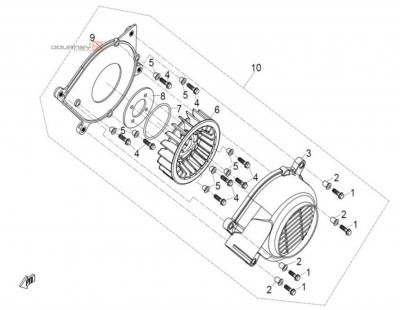 NÁHRADNÉ DIELY CF MOTO UTV 830 EFI - Ventilátor
