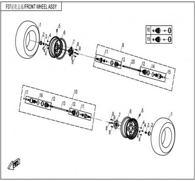 NÁHRADNÉ DIELY CF MOTO UTV 830 EFI - Predné kolesá