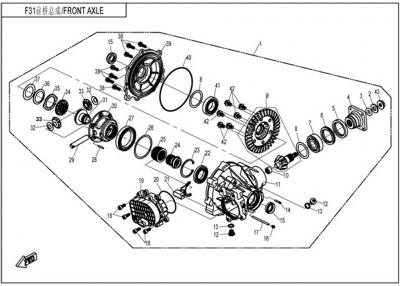 NÁHRADNÉ DIELY CF MOTO UTV 830 EFI - Predný diferenciál
