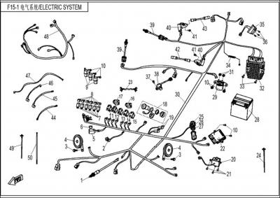 NÁHRADNÉ DIELY CF MOTO Z8 - Elektrický systém
