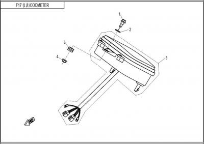 NÁHRADNÉ DIELY CF MOTO Z8 - Tachometer