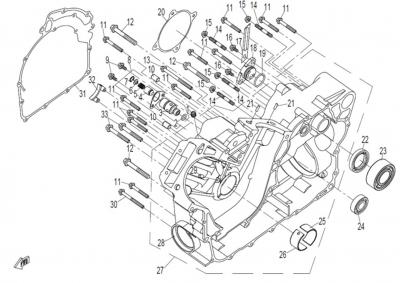 NÁHRADNÉ DIELY CF MOTO Z8 - Pravá časť bloku motora