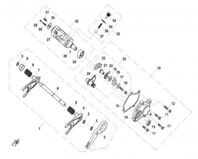 NÁHRADNÉ DIELY CF MOTO Z8 - Prevody III