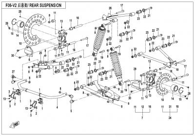 Gladiator X450 EURO4 (2018) - REAR SUSPENSION - F06-V2