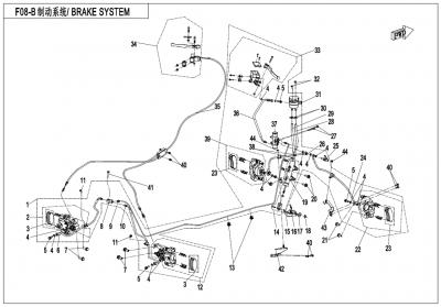 Gladiator X450 EURO4 (2018) - BRAKE SYSTEM(LH,SPLIT) - F08-B