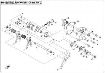 Gladiator X450 T3B (2019) - TRANSMISSION SYSTEM(3) - E06-3