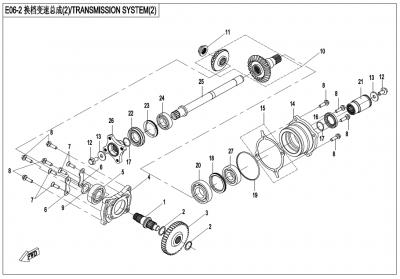 Gladiator X450 T3B (2019) - TRANSMISSION SYSTEM(2) - E06-2