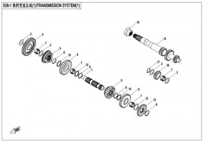 Gladiator X450 T3B (2019) - TRANSMISSION SYSTEM(1) - E06-1