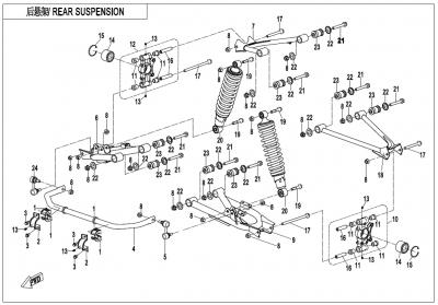 Gladiator X450 T3B (2019) - REAR SUSPENSION - F06-V3