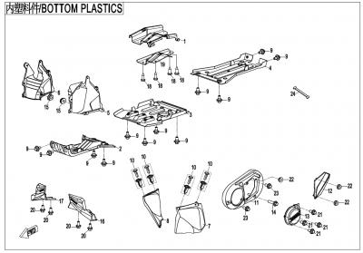 Gladiator X450 T3B (2019) - BOTTOM PLASTICS - F04-4-V3