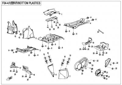 Gladiator X450 T3B (2019) - BOTTOM PLASTICS - F04-4-V1