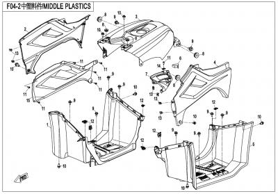 Gladiator X450 T3B (2019) - MIDDLE PLASTICS - F04-2