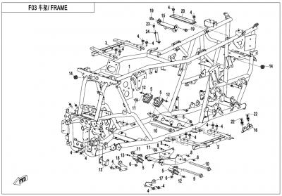Gladiator X450 T3B (2019) - FRAME - F03