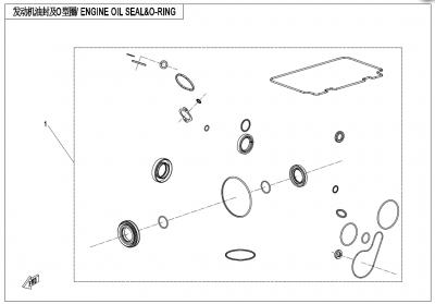 Gladiator X625 Euro4 (2020) - ENGINE OIL SEAL &O-RING - E30