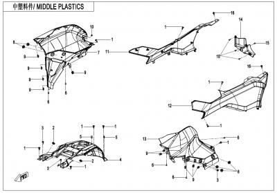 Gladiator X625-A Euro4 (2020) - MIDDLE PLASTICS - F04-4-V2