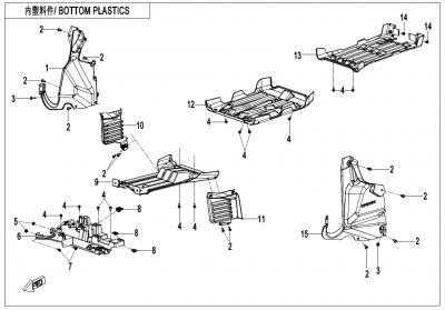 Gladiator X625 Euro4 (2020) - BOTTOM PLASTICS - F04-7-V1