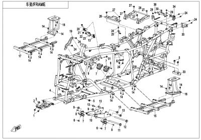 Gladiator X625-A Euro4 (2020) - FRAME - F03-V2