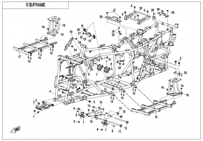 Gladiator X625-A Euro4 (2020) - FRAME - F03-V1
