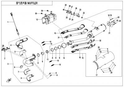 Gladiator X625-A Euro4 (2020) - MUFFLER(NA) - F02-A