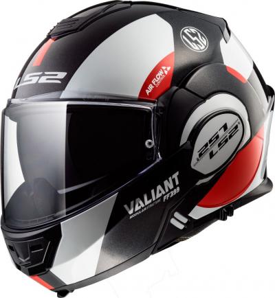 LS2 FF399 VALIANT AVANT WHITE BLACK RED