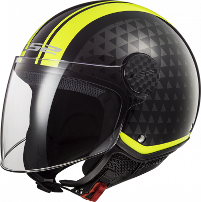 LS2 OF558 SPHERE LUX CRUSH BLACK H-V YELLOW